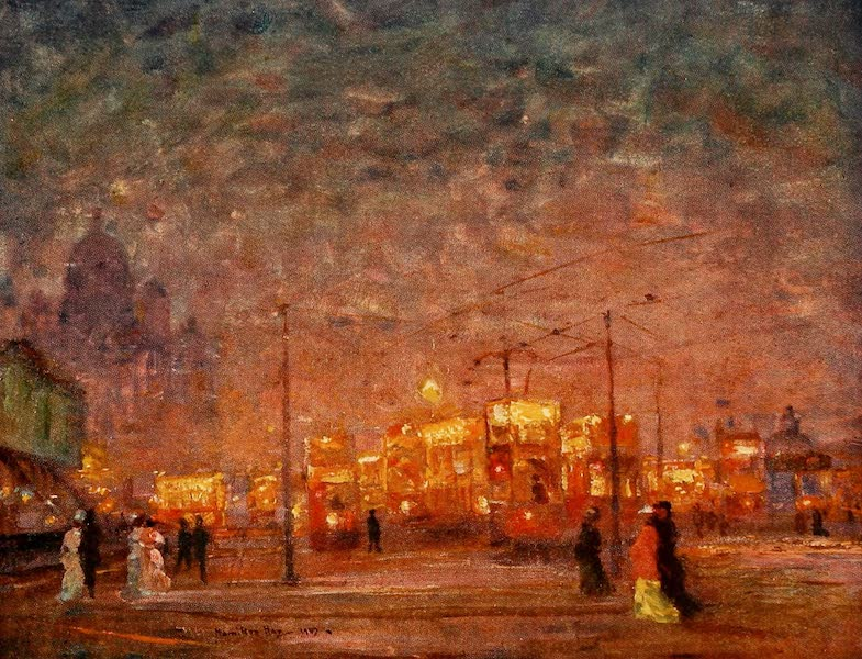 Liverpool Painted and Described - Electric Car Terminus, Pier-head (1907)