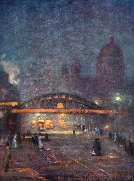 Liverpool Painted and Described - Overhead Railway from James Street (1907)