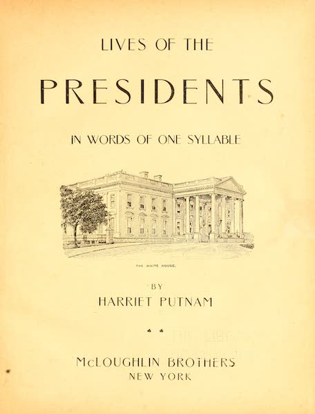 Lives of the Presidents - Title Page (1903)