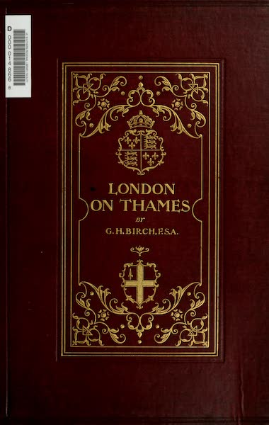 London on Thames in Bygone Days - Front Cover (1903)