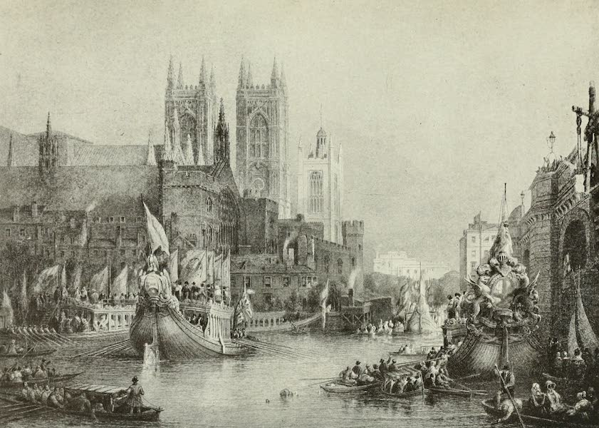 London on Thames in Bygone Days - The Lord Mayor's Show at Westminster Bridge (1903)