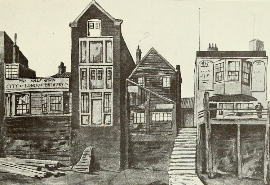 London on Thames in Bygone Days - The Half-Moon and the Ship, Shadwell (1903)