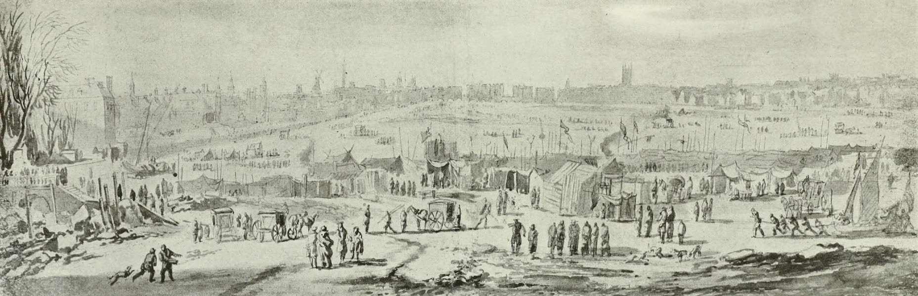 London on Thames in Bygone Days - The Frost Fair of 1684 (1903)
