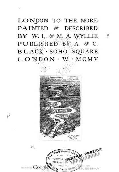 London to the Nore Painted and Described - Title Page (1905)