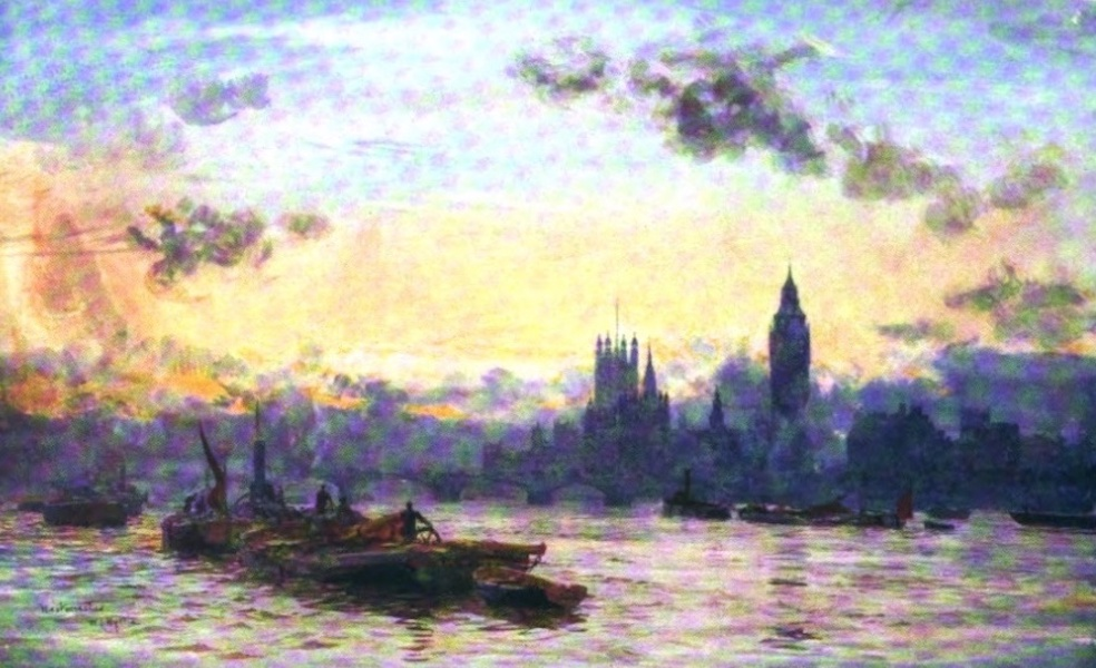 London to the Nore Painted and Described - Westminster and the Houses of Parliament (1905)
