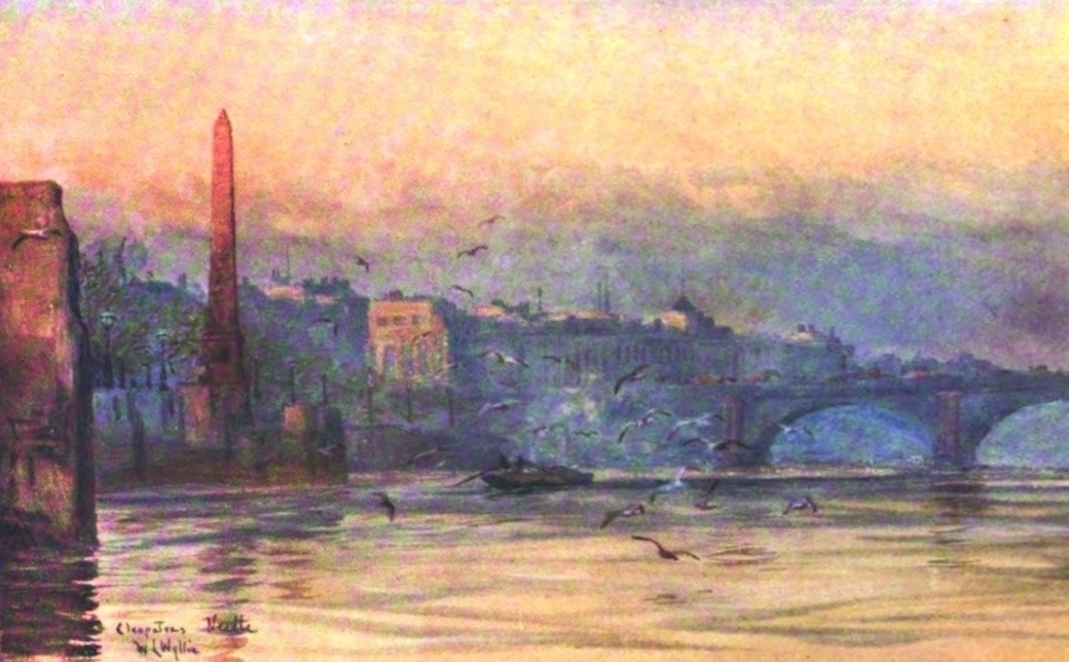 London to the Nore Painted and Described - Cleopatra's Needle and Somerset House (1905)