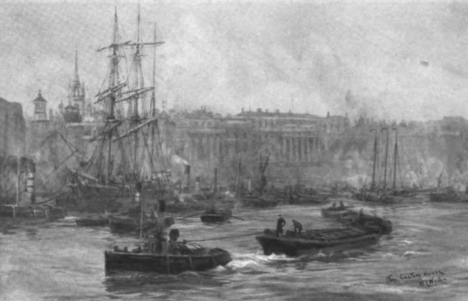London to the Nore Painted and Described - The Custom House and Billingsgate (1905)