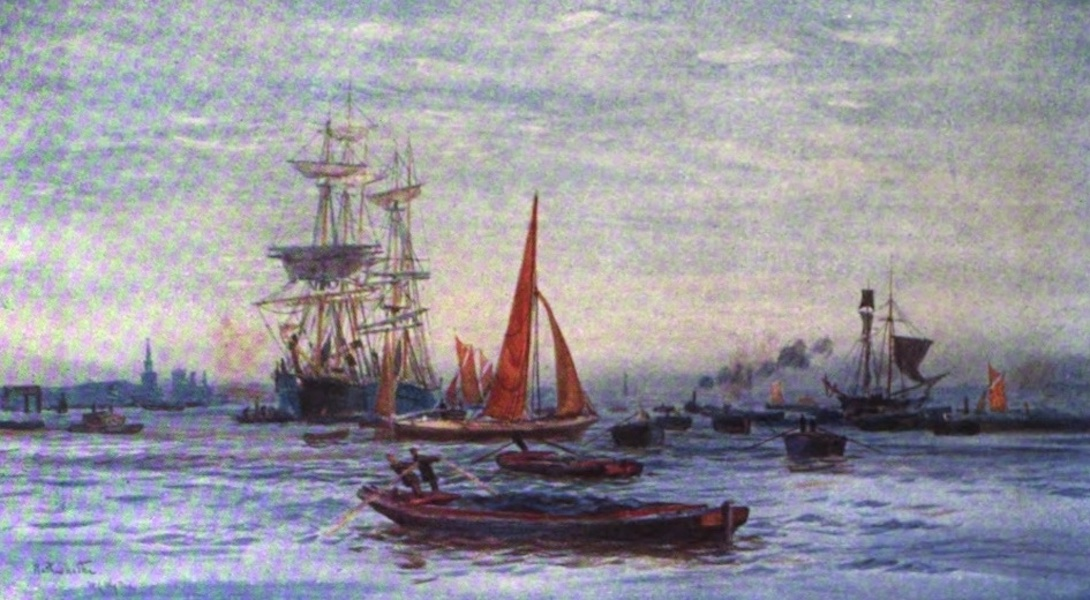 London to the Nore Painted and Described - Rotherhithe (1905)