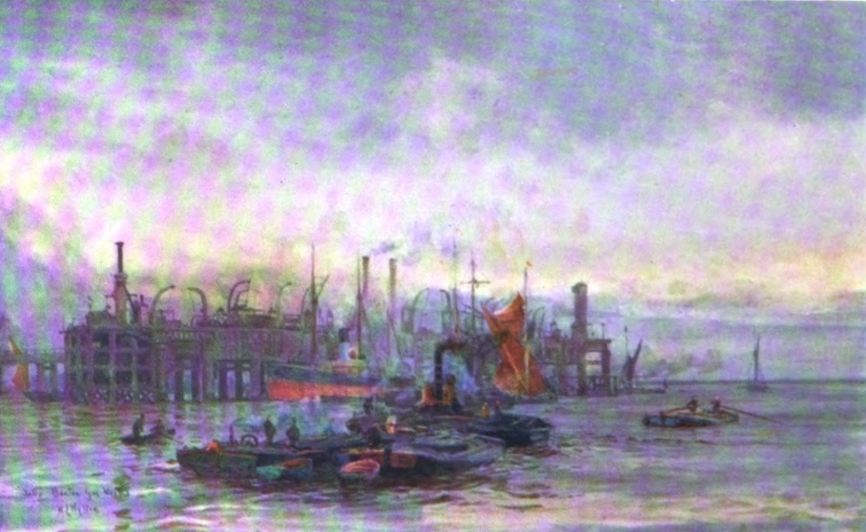 London to the Nore Painted and Described - The Jetty, Becton Gas Works (1905)