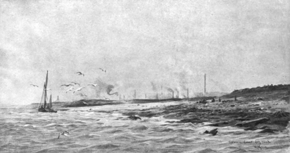 London to the Nore Painted and Described - The Remains of a Forest, Long Reach (1905)