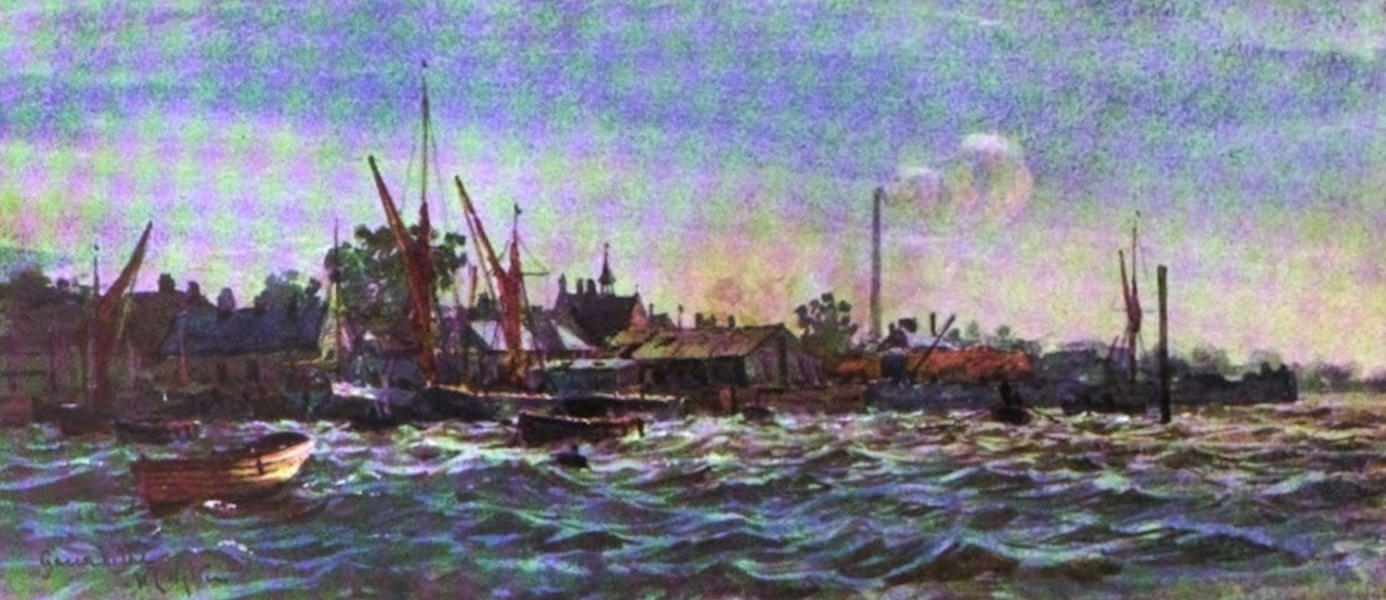 London to the Nore Painted and Described - Greenhithe : brisk east wind (1905)