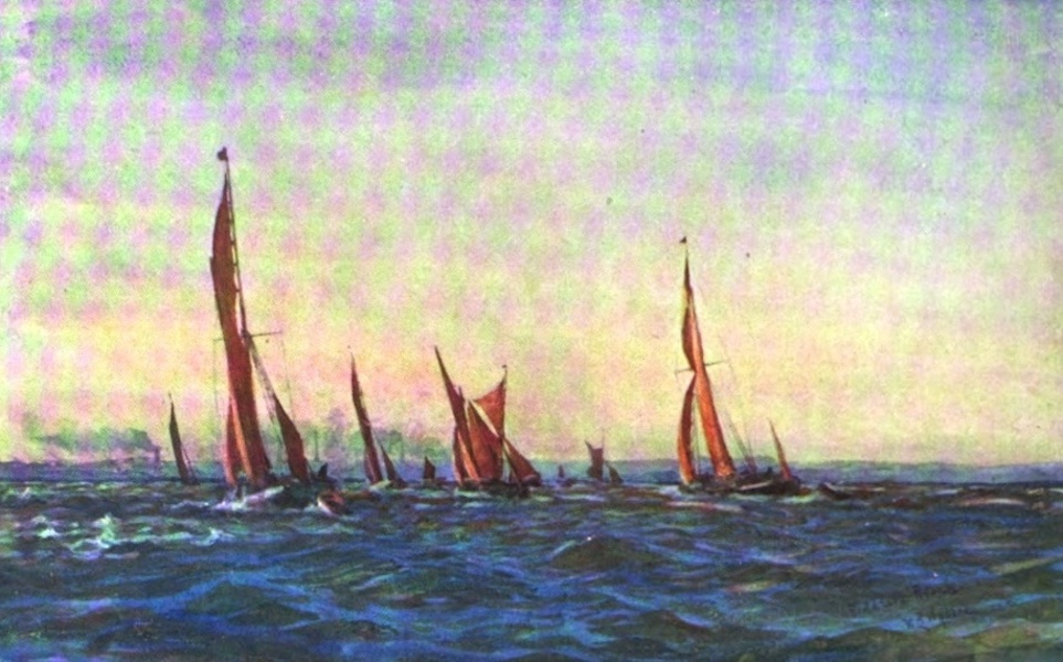 London to the Nore Painted and Described - Fiddler's Reach (1905)