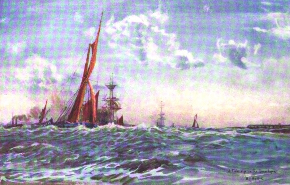 London to the Nore Painted and Described - A Tide Rip in the Lower Hope (1905)