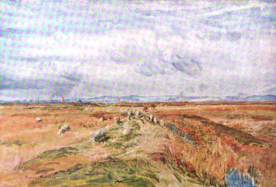 London to the Nore Painted and Described - St. Mary's Marsh (1905)