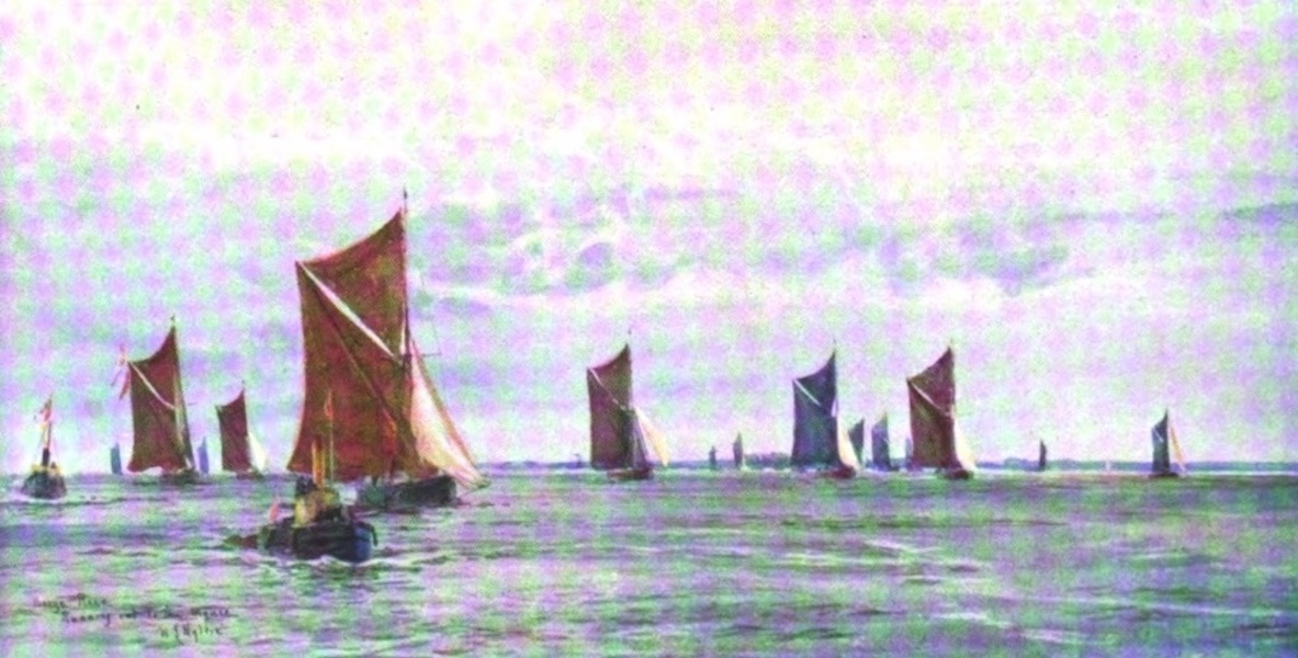 London to the Nore Painted and Described - Barge Race : Running out to the Mouse (1905)
