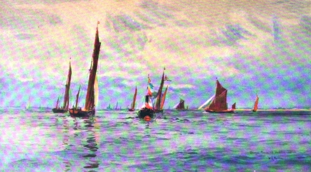 London to the Nore Painted and Described - Barge Race off Shoeburyness (1905)
