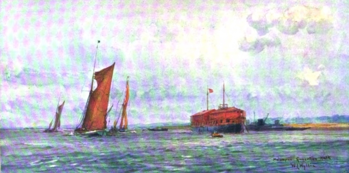 London to the Nore Painted and Described - H.M.S.