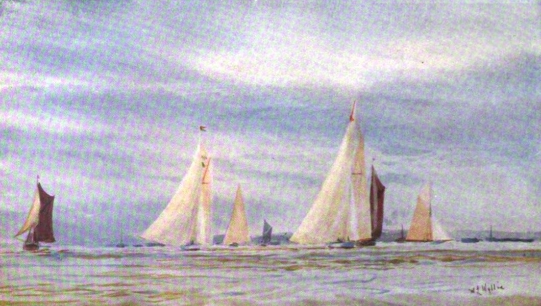 London to the Nore Painted and Described - Yachts after a Race (1905)