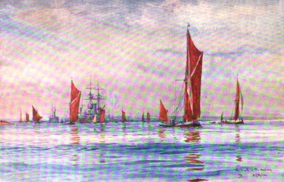 London to the Nore Painted and Described - Mouth of the Medway (1905)