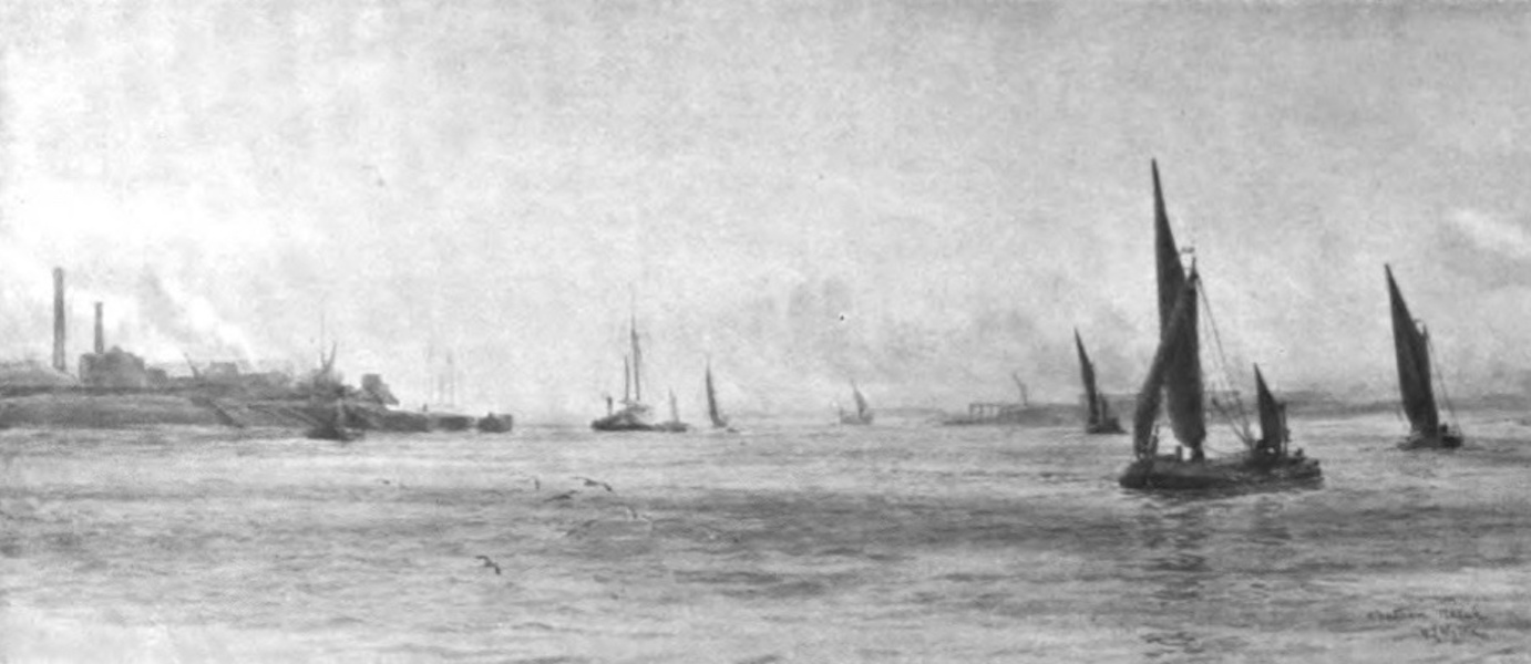 London to the Nore Painted and Described - Chatham Reach (1905)