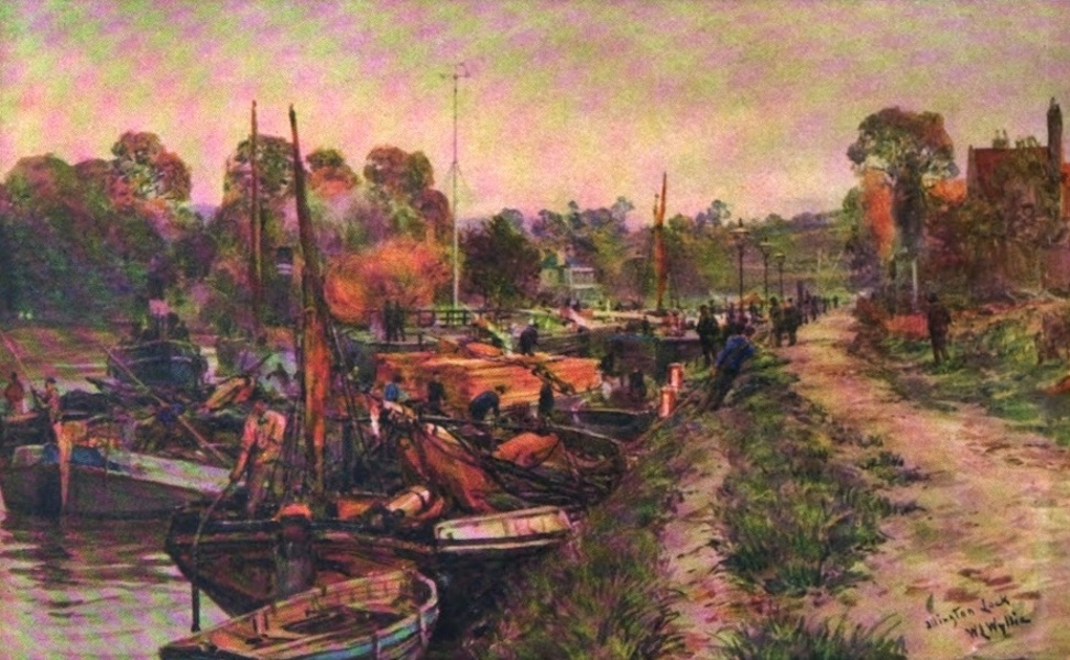 London to the Nore Painted and Described - Allington Lock (1905)