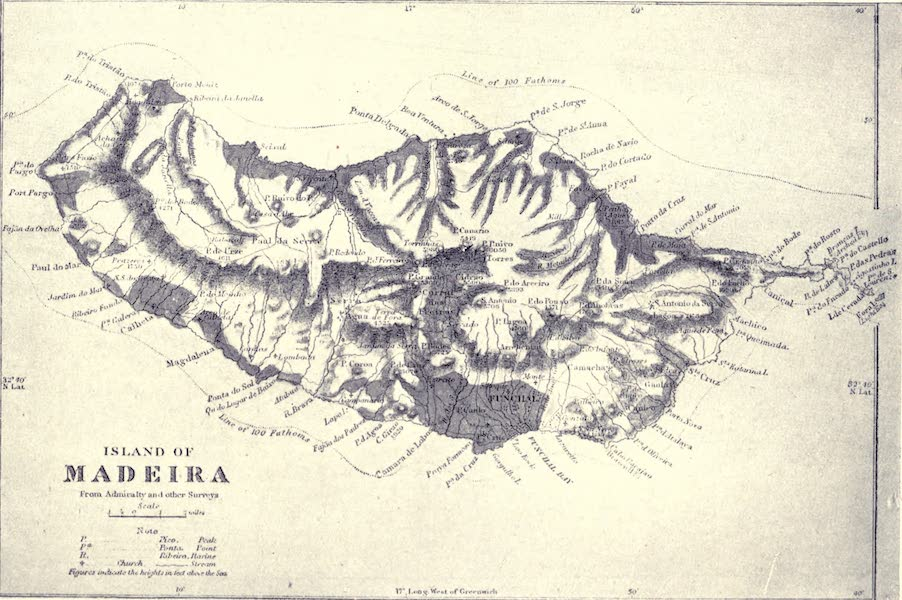 Madeira : Old and New - Map of Madeira (1909)