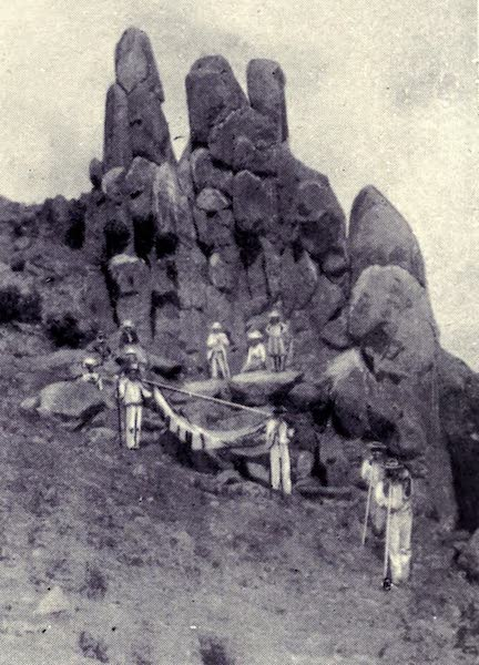 Madeira : Old and New - Basaltic Rocks on the Way to Pico Ruiro (1909)