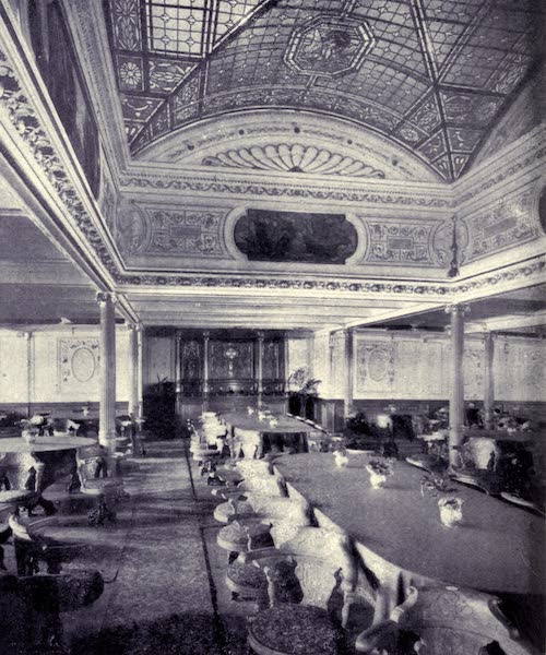 "Madeira : Old and New - R.M.S.P. ""Avon"" Saloon, showing portion of Dome (1909)"