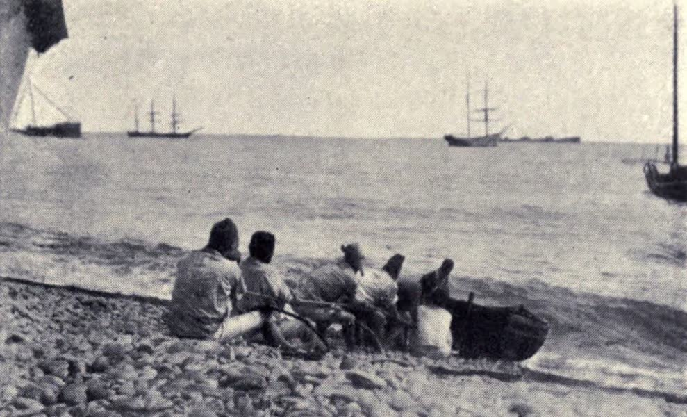 Madeira : Old and New - Hauling up a Dinghy (1909)