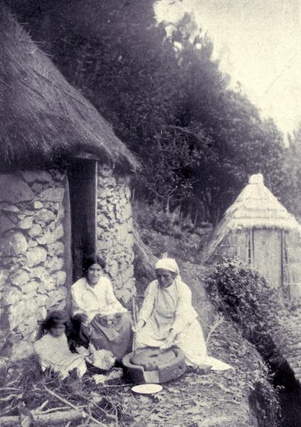Madeira : Old and New - Peasants Grinding Maize (1909)