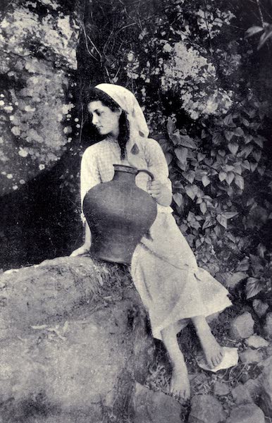 Madeira : Old and New - Girl with a Water Pote at the Side of a Levada (1909)