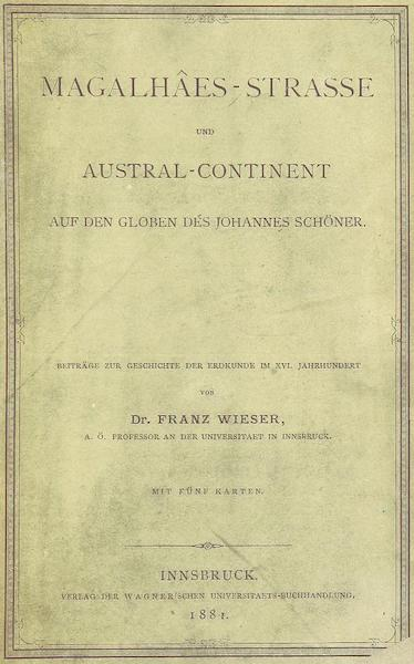 Magalhaes-Strasse und Austral-Continent - Front Cover (1881)