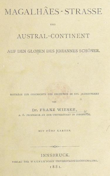 Magalhaes-Strasse und Austral-Continent - Title Page (1881)