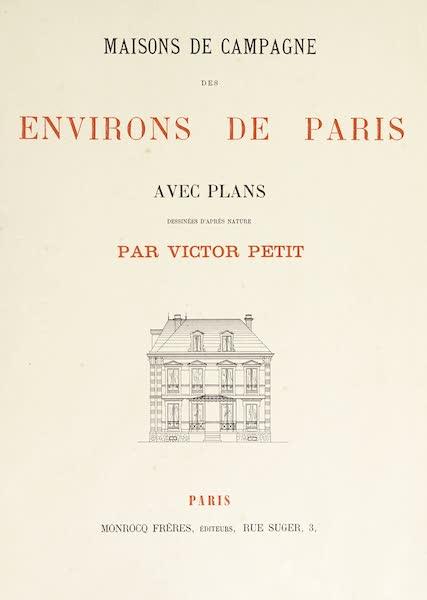 Maisons de Campagne des Environs de Paris - Title Page (1850)