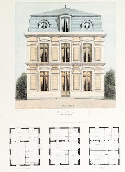 Maisons de Campagne des Environs de Paris - Maison de campagne (genre Louis XV) (1850)