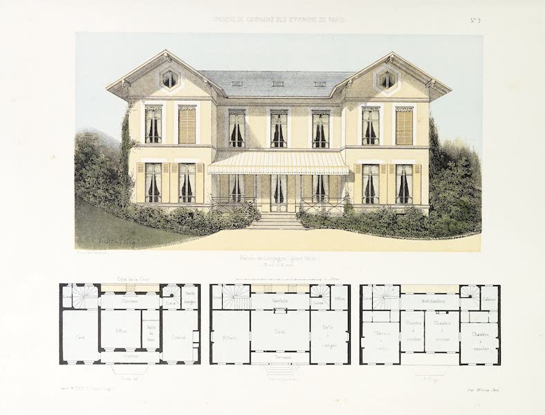 Maisons de Campagne des Environs de Paris - Maison de campagne (genre italien) (1850)