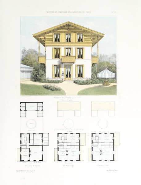 Maisons de Campagne des Environs de Paris - Résidence de campagne (genre suisse) (1850)