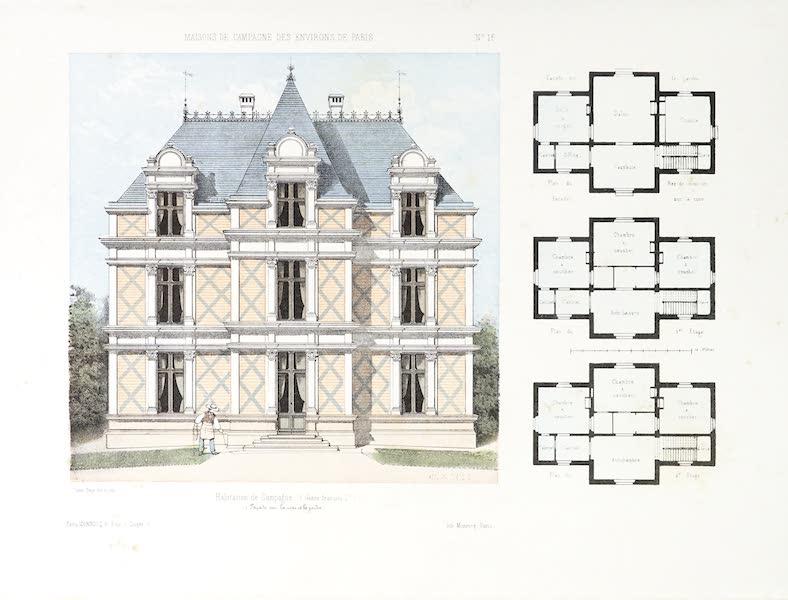 Maisons de Campagne des Environs de Paris - Habitation de campagne (genre François 1er) (1850)