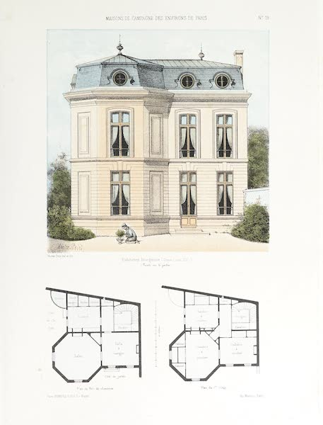 Maisons de Campagne des Environs de Paris - Habitation bourgeoise (genre Louis XV) (1850)