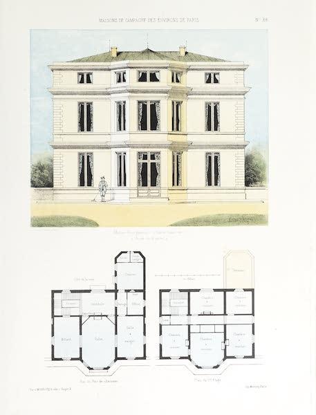 Maisons de Campagne des Environs de Paris - Maison bourgeoise (genre Louis XV) (1850)