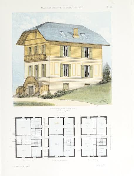 Maisons de Campagne des Environs de Paris - Habitation bourgeoise (genre suisse) (1850)