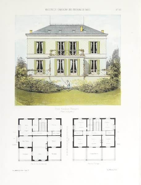 Maisons de Campagne des Environs de Paris - Petite résidence champêtre (1850)
