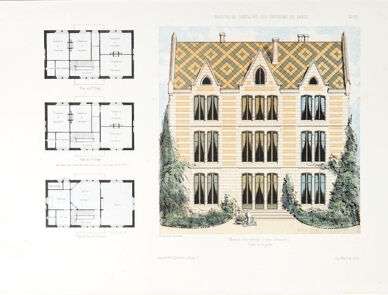 Maisons de Campagne des Environs de Paris - Maison bourgeoise (genre allemand) (1850)