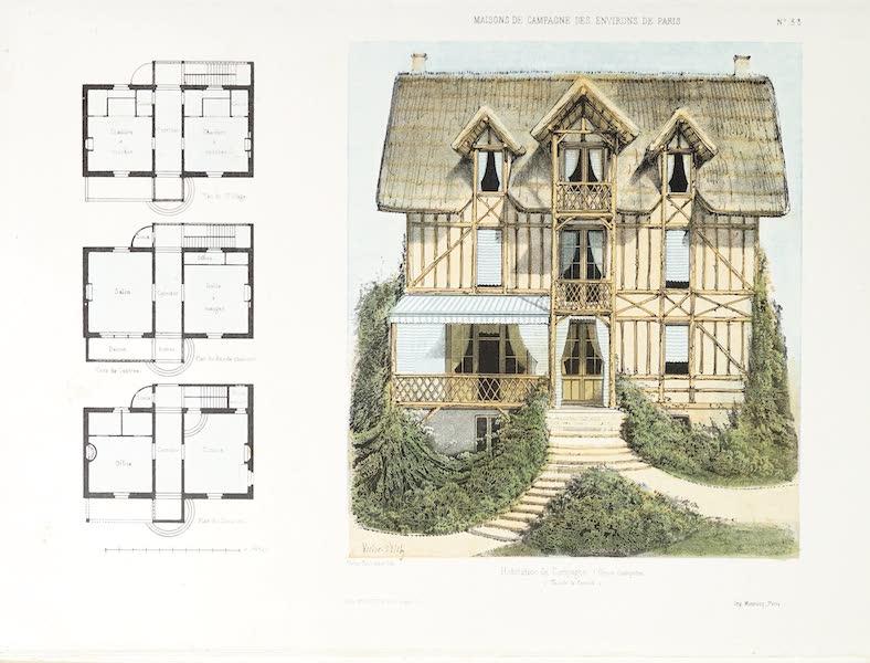 Maisons de Campagne des Environs de Paris - Habitation de campagne (genre chalet) (1850)