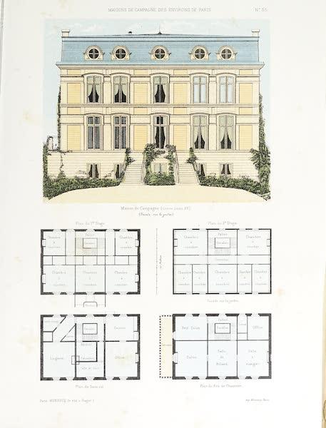 Maisons de Campagne des Environs de Paris - Maison de campagne (genre Louis XIV) (1850)