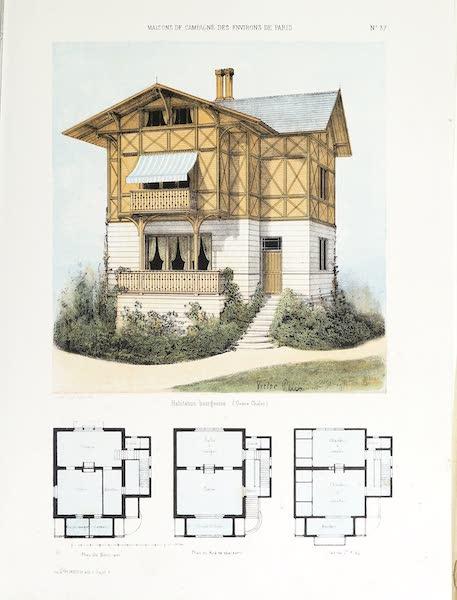 Maisons de Campagne des Environs de Paris - Habitation bourgeoise (1850)
