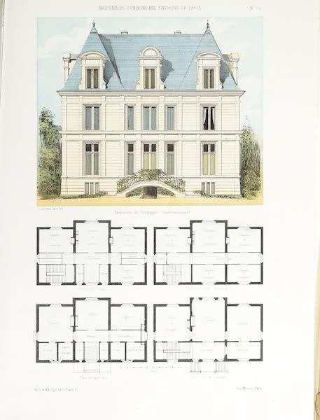 Maisons de Campagne des Environs de Paris - Résidence de campagne (genre renaissance) (1850)