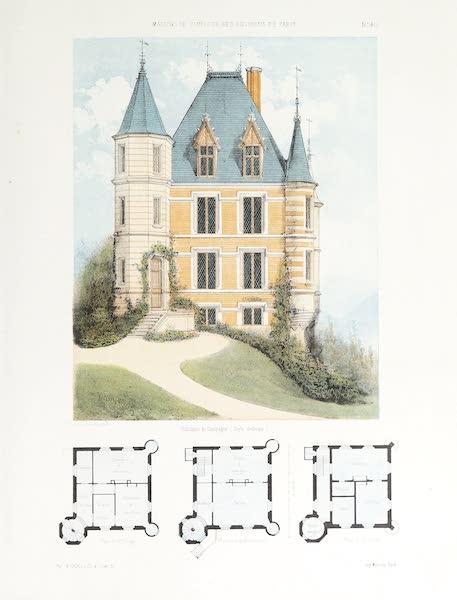 Maisons de Campagne des Environs de Paris - Habitation de campagne (style gothique) (1850)