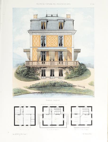 Maisons de Campagne des Environs de Paris - Résidence bourgeoise (1850)