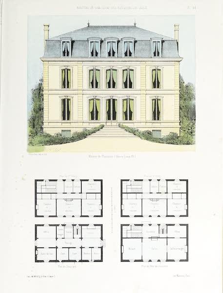 Maisons de Campagne des Environs de Paris - Maison de plaisance (genre Louis XV) (1850)